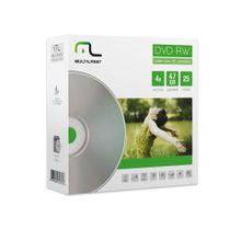 Mídia Dvd-Rw Vel. 04X - 25 Un. Envelope Impresso Em Caixa Multilaser - DV062