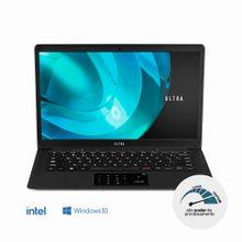 Notebook Ultra, com Windows 10 Home, Processador Intel Pentium, Memória 4GB RAM e 500GB HDD, Tela 14,1 Pol. HD, Preto - UB322
