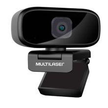 Webcam Full HD 1080P Auto Focus Rotação 360° Mic Usb Preto - WC052