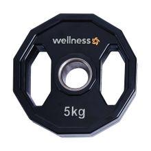 Anilha Poliuretano Furacao Olímpica 12 Faces com Pegada 5kg Wellness - WK019