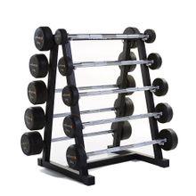 Kit 10 Barras Montadas Emborrachadas  10 a 46kg Wellness - WK031