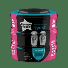 Refil Tommee Tippee Twist & Click - 3Pcs - 85102201