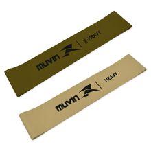 Kit Faixa Elástica Mini Band - X-Power - 2 Tensões - Muvin - FXE-400