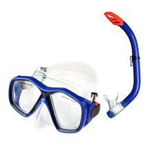 Kit Mergulho Máscara e Snorkel Juvenil Azul - ES379