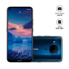 Smartphone Nokia 5.4 128GB, 4GB RAM, Tela 6,39 Pol. Câm Quádrupla com IA + Lentes Ultra-Wide - Azul - NK025