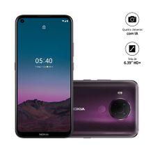 Smartphone Nokia 5.4 128GB, 4GB RAM, Tela 6,39 Pol. Câm Quádrupla com IA + Lentes Ultra-Wide - Roxo - NK026