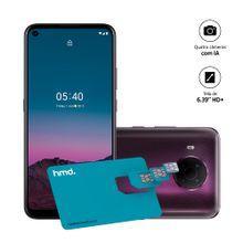 Smartphone Nokia 5.4 128GB, 4GB RAM, Tela 6,39 Pol. Câm Quádrupla com IA + Lentes Ultra-Wide + Cartão SIM HMD Connect - Roxo - NK031