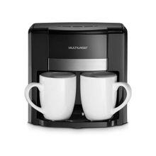 Cafeteira Elétrica Multilaser 220V 500W 2 Xícaras + Colher Dosadora + Filtro Permanente Preta - BE010