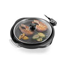 Panela Grill Multilaser Gourmet 220V 1200W Grelha Antiaderente Preto - CE054