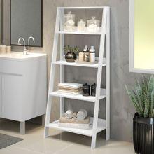 Estante Organizadora Multiuso para Banheiro com 4 Prateleiras Madesa Branco