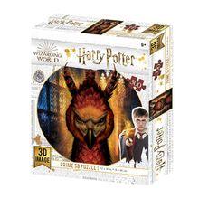 Quebra-Cabeça 3D Fawkes Harry Potter 300 Peças - BR1324