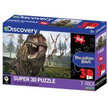 Quebra Cabeça Super 3D Modelo Dinossauros na Pré-História com 100 Peças Multikids - BR1058