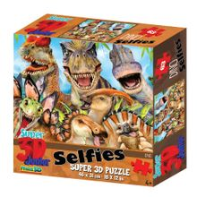 Quebra Cabeça 3D Dino Selfie 100 Peças - BR1053
