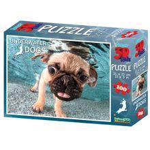 Quebra Cabeça Super 3D Modelo Pug com 100 Peças Multikids - BR1050