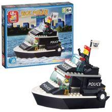 Blocos de Montar Policia Guarda Costeira 98 Peças Indicado para +6 Anos Material Plástico Colorido Multikids - BR833