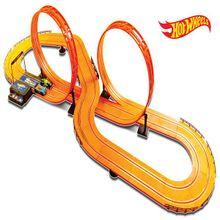 Pista Hot Wheels Track Set Deluxe 632cm com 2 Carrinhos + 2 Controles Indicado para +5 Anos Multikids - BR083