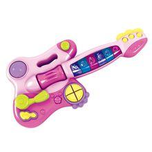 Minha Primeira Guitarra Elétrica Com Som e Partes Interativas Indicado para +18 Meses Rosa MultikidsBaby - BR1091
