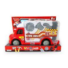 Caminhão de Bombeiro Workshop Junior Truck com Acessórios Indicado para +3 Anos Vermelho Multikids - BR898