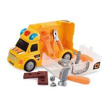 Caminhão de Construção Workshop Junior Truck com Acessórios Indicado para +3 Anos Amarelo Multikids - BR899