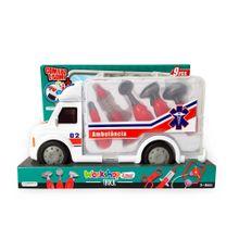 Caminhão de Primeiros Socorros Workshop Junior Truck com Acessórios Indicado para +3 Anos Branco/vermelho Multikids - BR900