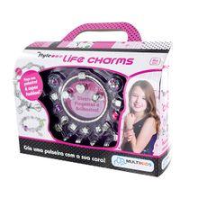 Pulseiras My Style Preciosas Life Charms com Pingentes para Personalizar Indicado para +6 Anos Multikids - BR468