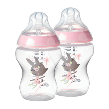Kit 2 Mamadeiras Tommee Tippee Closer To Nature 260ml Rosa - 522823