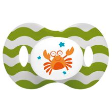 Chupeta Ocean PP Verde E Branca Ortoflex Tam 1 (0-6 M) Multikids Baby - BB135