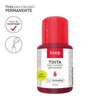 Tinta Reabastecedora p/ Marcador Permanente 20ml Vermelho - Caixa c/ 12un Keep - MR047