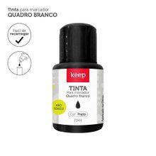 Tinta Reabastecedora p/ Marcador Quadro Branco 20ml Preto Caixa c/ 12un - Keep - MR041