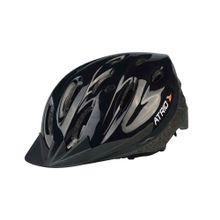 Capacete para Ciclismo MTB Alças Ajustáveis e 19 Entradas de Ar Preto Atrio Tam. M - BI002