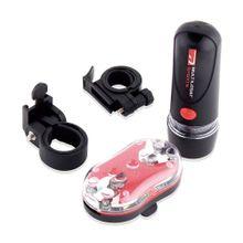Kit Farol Dianteiro e Traseiro para Bike com Suporte Resistentes à Água Pilhas AAA Atrio - BI006