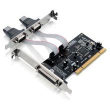 Placa PCI Multilaser com 2 Portas Seriais + 1 Porta Paralela de 32 Bits - GA129