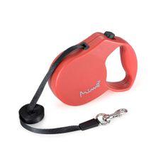 Guia Retrátil Mimo Conceito Safe Walk Emborrachado Fita 3m até 7kg (PP) Vermelho - PP024