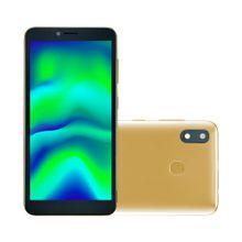 Smartphone F Pro 2 32 GB + 1GB RAM 4G Tela LDC 5.5 Câmera Traseira 8 MP + 5MP Câmera Frontal Processador Quad Core Dourado Multilaser - P9153