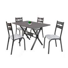 Conjunto de Mesa E Cadeiras Luna 120 em Aço 4 Lugares Ciplafe