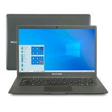 Notebook Multilaser Legacy Cloud, com Windows 10 Home, Processador Intel Quadcore Memoria 2GB 32GB  Tela 14,1 Pol. HD Cinza - PC130