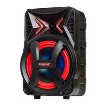 Caixa de Som Montanha 180W Rms Rádio Bluetooth Usb Sd Card Show Led Amvox