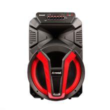 Caixa de Som Vulcano 700W Rms Rádio Bluetooth Usb Sd Card Led Rítimico Amvox