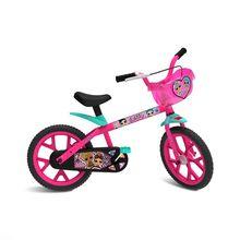 Bicicleta Aro 14 Lol com Cestinha e Rodinhas Bandeirante