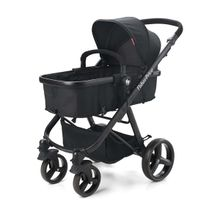 Carrinho de Bebê Berço com Moisés Hero TS Até 15Kg Preto Fisher-Price - BB593
