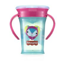 Copo de Treinamento 360 First Moments Rosa Candy 210 ml 6+M Fisher Price - BB1021