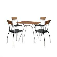Conjunto Mesa de Jantar Quadrada com 04 Cadeiras Native Carraro