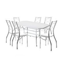 Conjunto Mesa de Jantar Retangular com 06 Cadeiras Jasmim Carraro