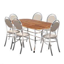 Conjunto Mesa de Jantar Retangular com 06 Cadeiras Laura Carraro
