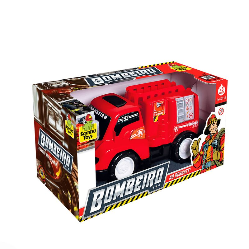 Carrinho-de-Brinquedo-Carro-Bombeiro-Samba-Toys