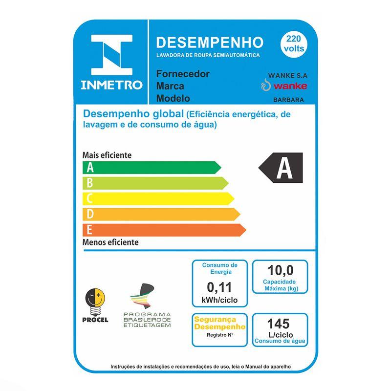 Lavadora-Semiautomatica-Barbara-10kg-retentor-fiapos-Wanke